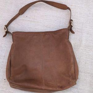 LIZ CLAIBORNE Leather Tote Bag